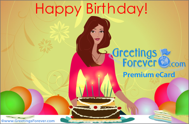Ecard - Happy Birthday special for her.