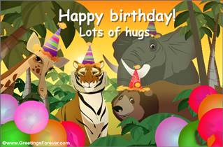 Happy Birthday from the jungle