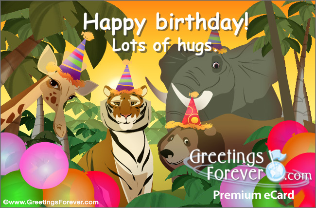 Ecard - Happy Birthday from the jungle