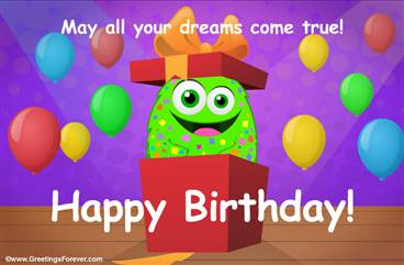 Birthday gift ecard