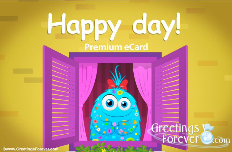 Ecard - Happy day window ecard