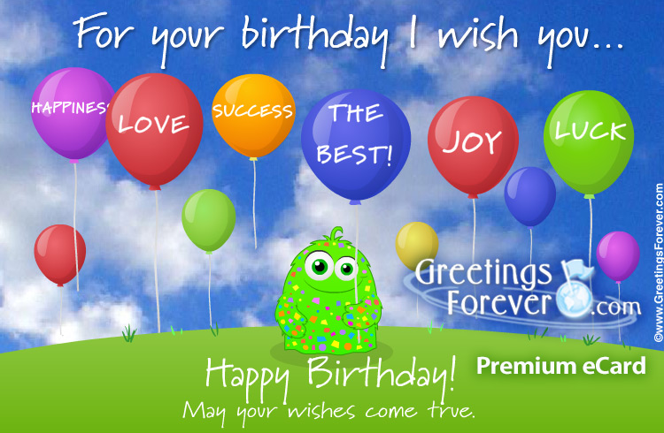 Ecard - For your birthday I wish you...