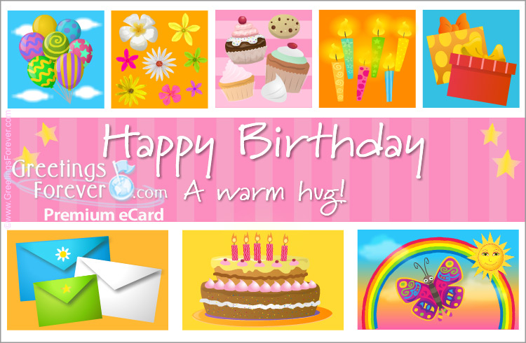 Ecard - Birthday ecard with cupcakes