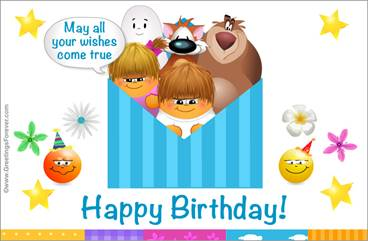 Birthday ecard with warm wishes