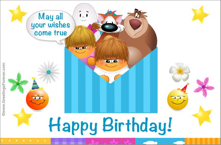 Ecard - Birthday ecard with warm wishes