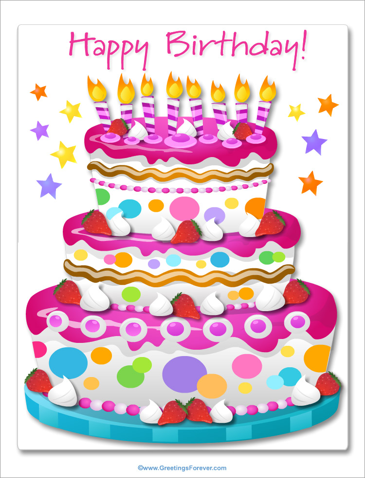 Giant Ecard For Birthday In Pink