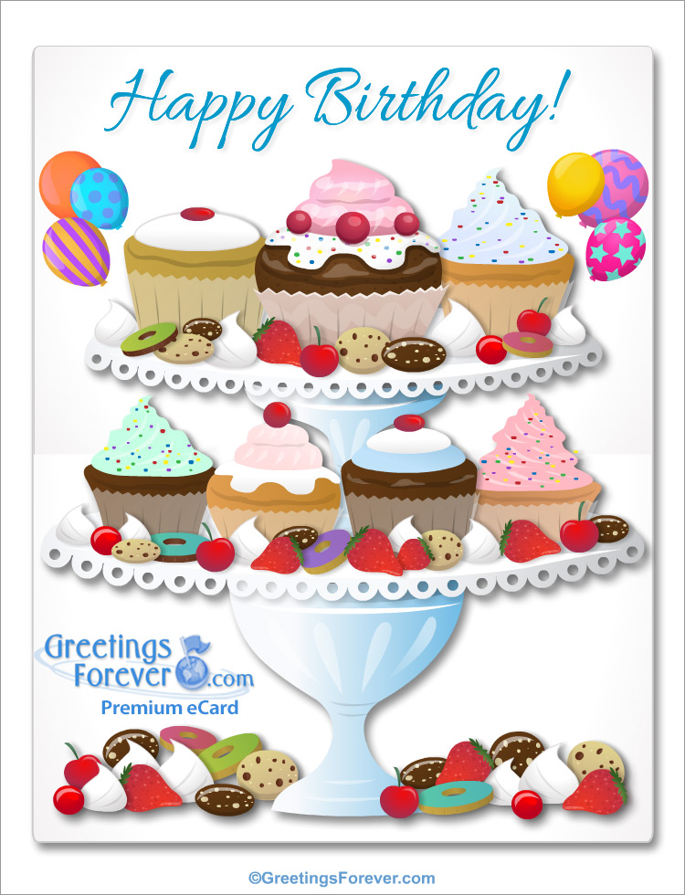 Ecard - Giant card with cupcakes
