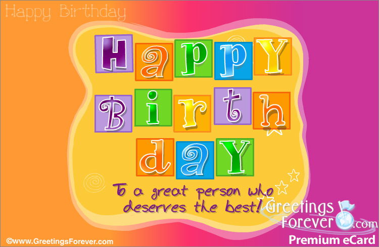 Ecard - Happy birthday special ecard