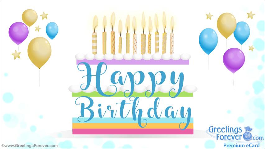 Ecard - Festive birthday ecard