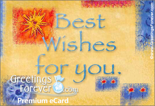 Ecard - Best wishes birthday ecard