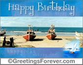 Happy birthday with boats