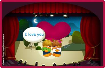 Romantic theater ecard