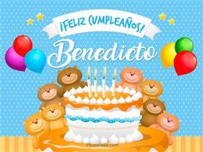 Tarjetas, postales: Benedicto