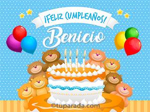 Tarjetas de Benicio
