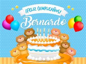 Tarjetas, postales: Bernardo