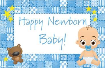Baby ecard for boys
