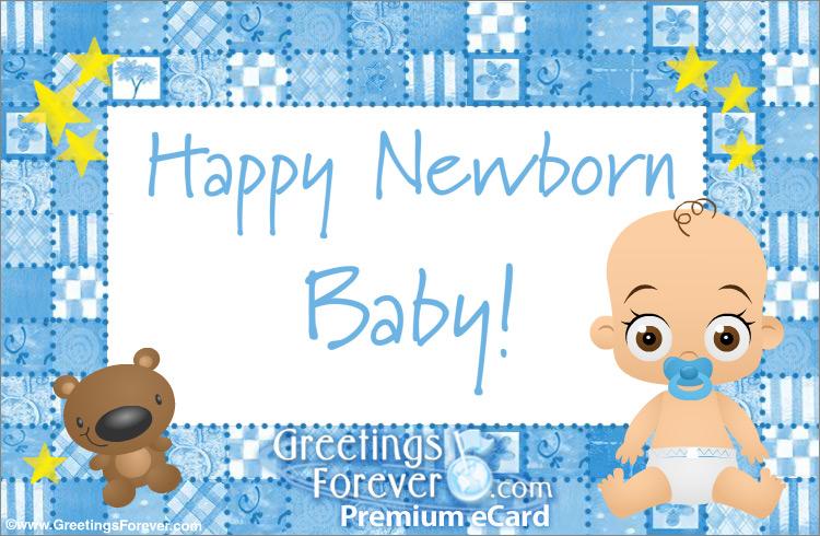 Ecard - Baby ecard for boys