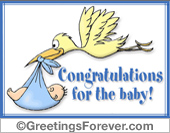 Congratulations for the baby!