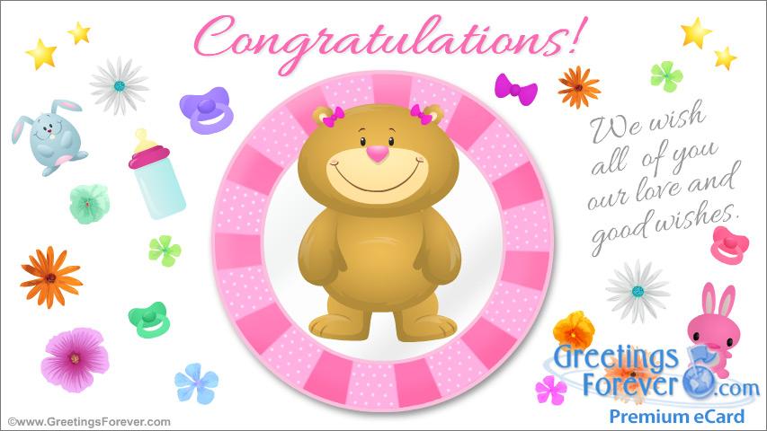 Ecard - Congratulations for Baby Girl