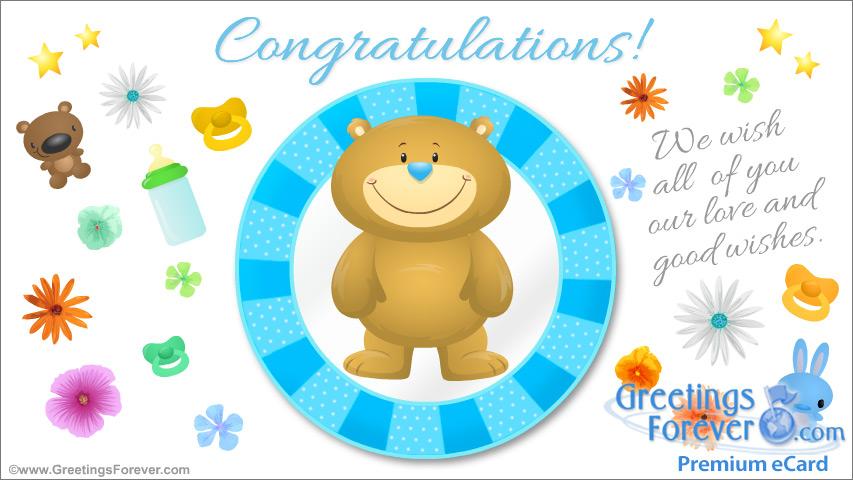 Ecard - Congratulations for Baby Boy