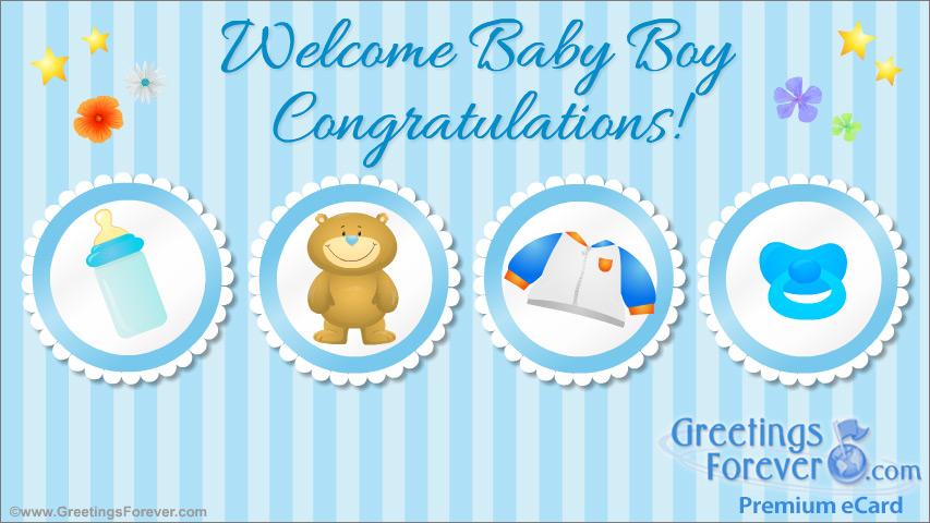 Ecard - Welcome baby boy ecard