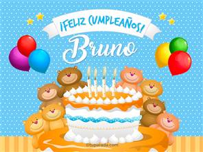 Tarjetas, postales: Bruno