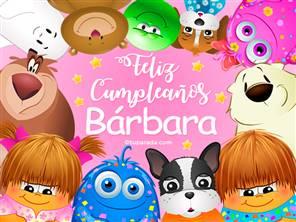 Feliz cumpleaños Bárbara