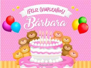 Tarjetas, postales: Bárbara