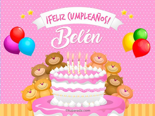 Tarjeta - Cumpleaños de Belén