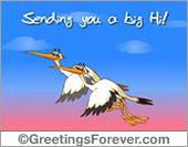 Sending you a big Hi!