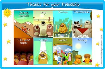 Interactive friendship ecard