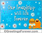 Our friendship ecard