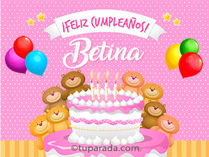 Tarjetas de  Betina