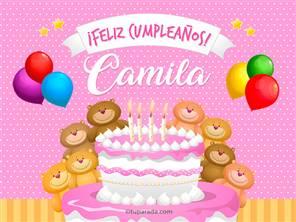 Tarjetas, postales: Camila