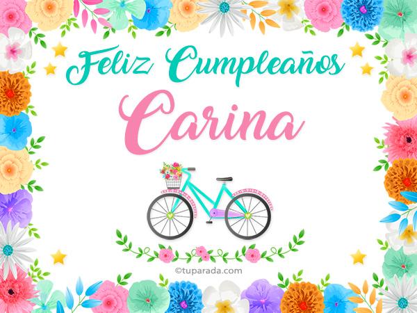 Tarjeta - Nombre Carina