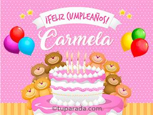 Tarjetas de Carmela