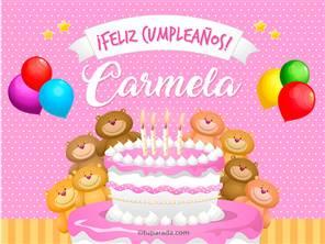 Tarjetas, postales: Carmela