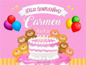 Tarjetas, postales: Carmen