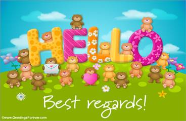Hello with little bears