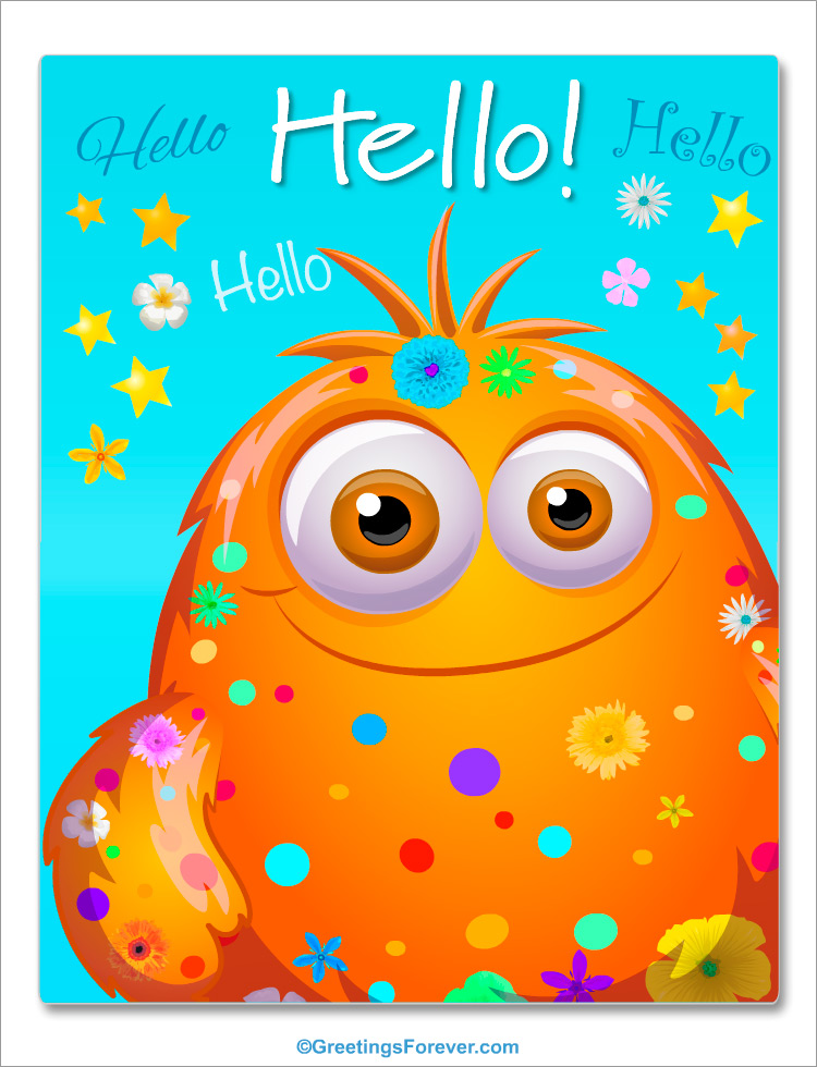 Ecard - Hello and greetings