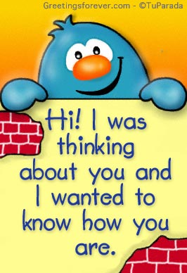 Ecard - I was thinking about you...