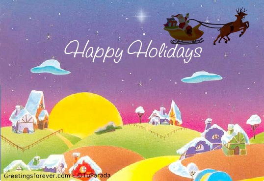 ecard happy holidays virtual card