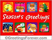 Season's Greetings in red