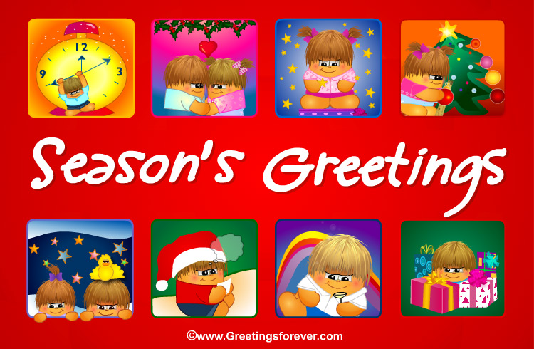 Ecard - Season's Greetings in red