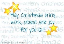May Christmas bring...