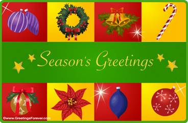 Season's Greetings ecard
