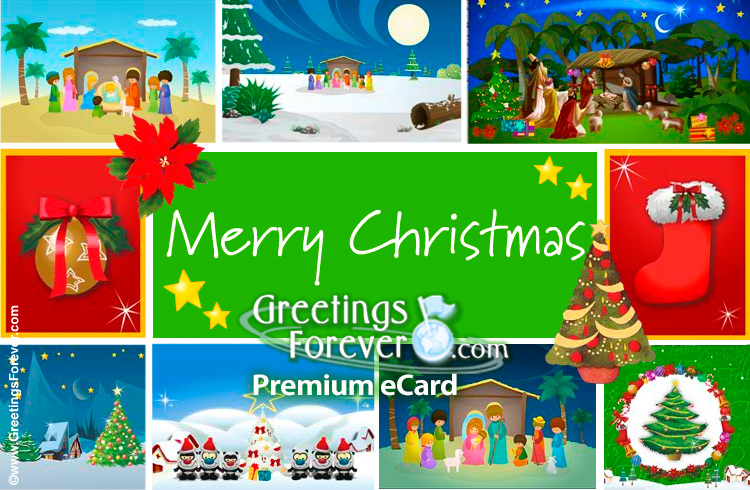 Ecard - Christmas with little cards