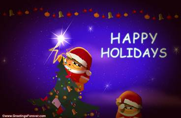 Warm wishes and happy holidays