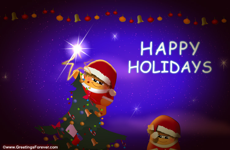Ecard - Warm wishes and happy holidays