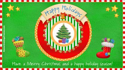 Traditional Season's greetings ecard